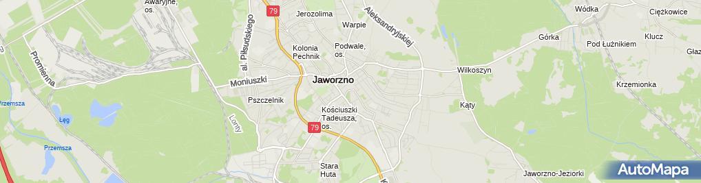 Zdjęcie satelitarne Powiatowa Stacja Sanitarno Epidemiologiczna w Jaworznie