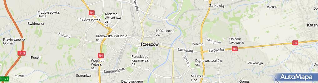 Zdjęcie satelitarne Powiatowy Inspektorat Nadzoru Budowlanego Dla Miasta Rzeszowa
