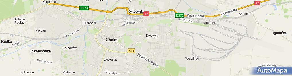Zdjęcie satelitarne Powiatowy Inspektorat Nadzoru Budowlanego Miasta Chełma