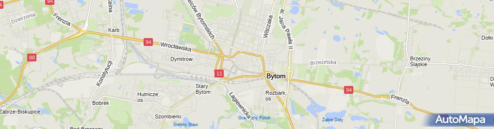 Zdjęcie satelitarne Powiatowy Inspektorat Nadzoru Budowlanego w Bytomiu