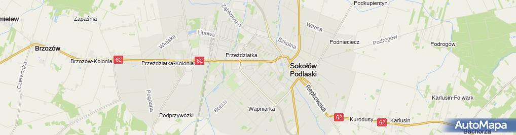 Zdjęcie satelitarne Powiatowy Inspektorat Nadzoru Budowlanego w Sokołowie Podlaskim