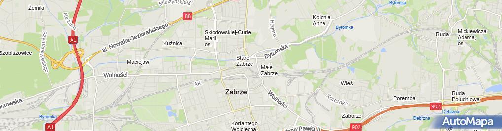 Zdjęcie satelitarne Powiatowy Inspektorat Nadzoru Budowlanego w Zabrzu