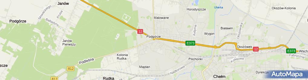 Zdjęcie satelitarne PPHU Expert Paweł Szoda