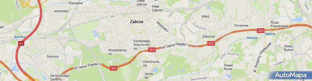 Zdjęcie satelitarne PPUH Lemar Kolasa Lesław Gomularz Mariusz