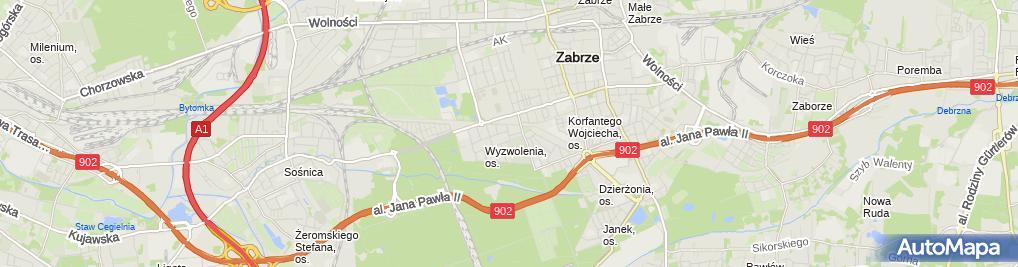 Zdjęcie satelitarne PR Projekt Piotr Raczyński