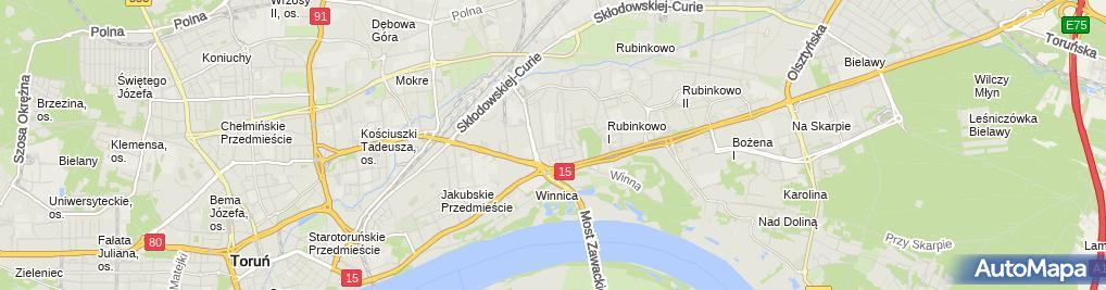 Zdjęcie satelitarne Pracownia Artystyczno-Krawiecka Małgorzata Wojnicz