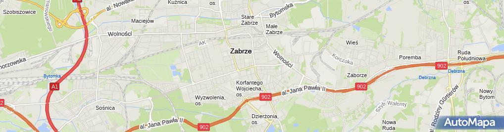 Zdjęcie satelitarne Pracownia Krawiecka