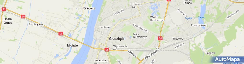 Zdjęcie satelitarne Pracownia Obsługi Budownictwa Eugeniusz Wolski