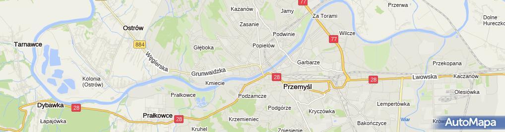 Zdjęcie satelitarne Pracownia Projektowa mgr Inż.Bud.Sylwia Pawłowska-Pałys