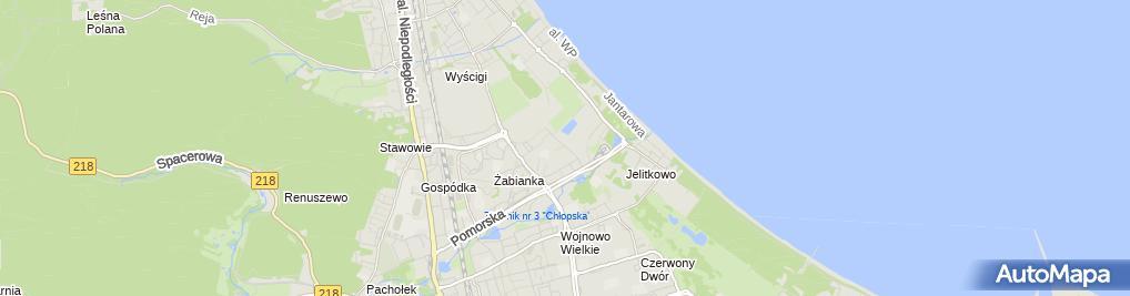 Zdjęcie satelitarne Pracownia Projektowa Zawisza Tadeusz Zawisza
