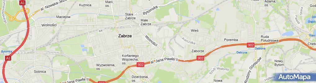 Zdjęcie satelitarne Praktyka Lekarska Łukasz Czarnecki