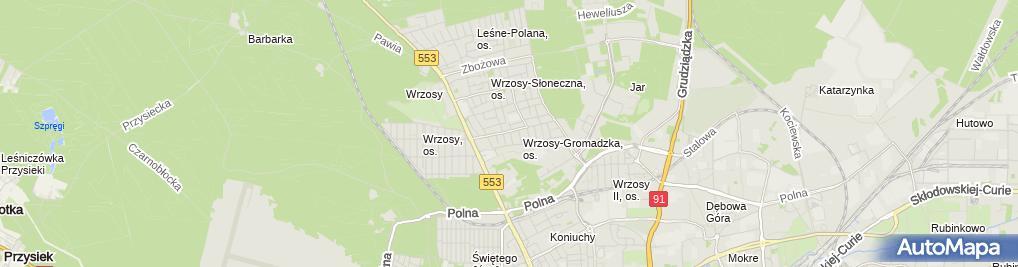 Zdjęcie satelitarne Praktyka Lekarska Małgorzata Podosek-Brzozowska