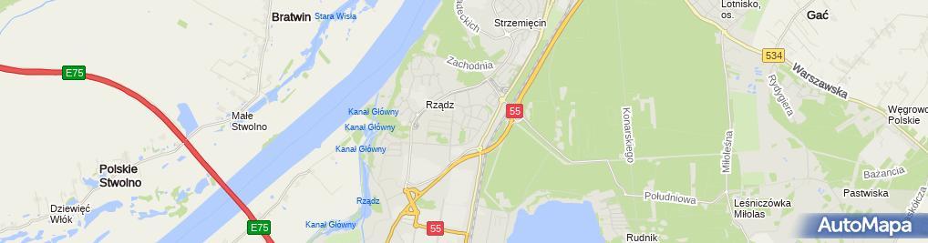Zdjęcie satelitarne Profil Drogi i Mosty