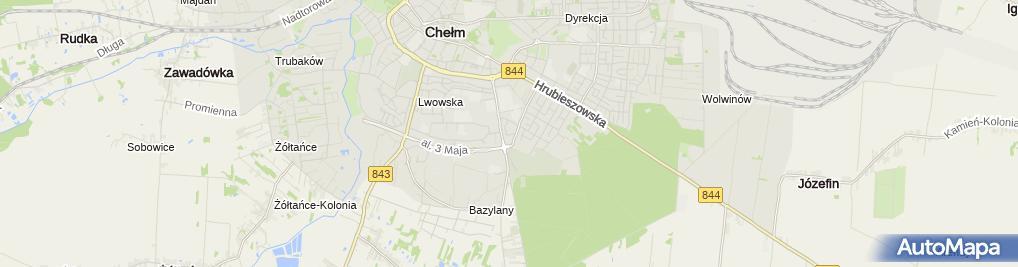 Zdjęcie satelitarne Prokom Usługi Informatyczne Jan Pawluk