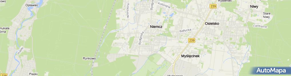 Zdjęcie satelitarne Prywatne Specjalistyczne Gabinety Lekarskie Michał Kołodziejczak Aleksandra Koszewska Kołodziejczak