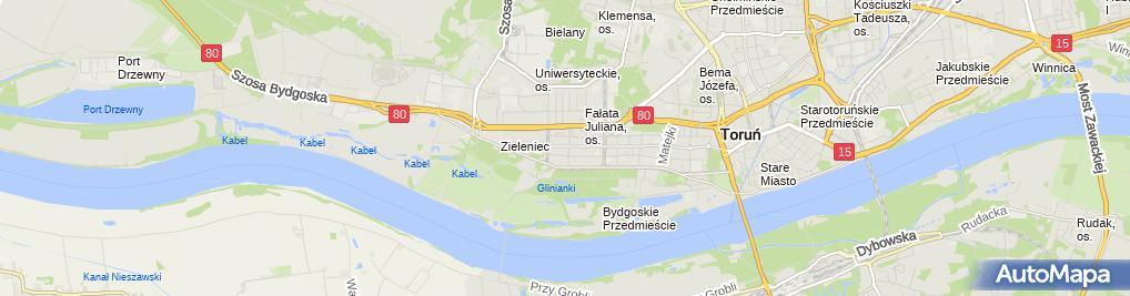 Zdjęcie satelitarne Prywatny Gabinet Ginekologiczny