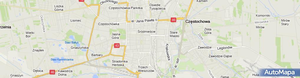 Zdjęcie satelitarne Prywatny Gabinet Lekarski Lek Medycyny Anna Tomska
