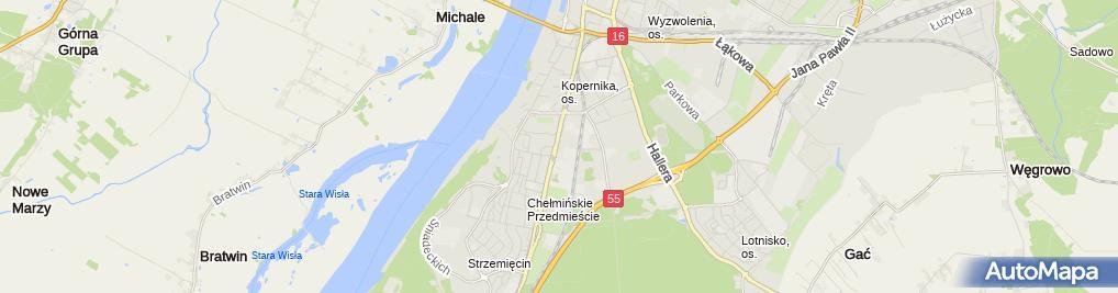 Zdjęcie satelitarne Prywatny Gabinet Logopedyczny Loguś Beata Przeczewska