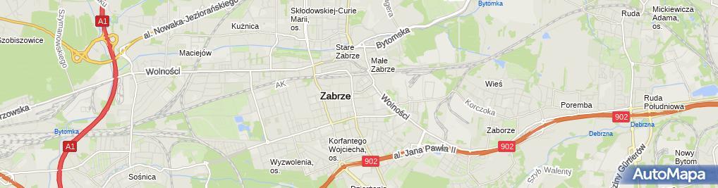Zdjęcie satelitarne Prywatny Gabinet Logopedyczny Wojciechowska
