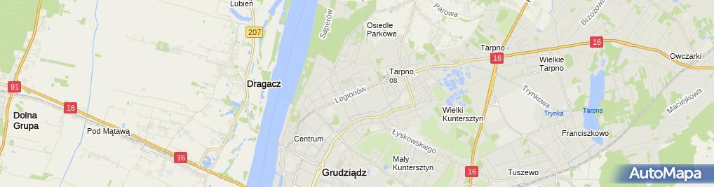 Zdjęcie satelitarne Prywatny Gabinet Okulistyczny Bagniewska