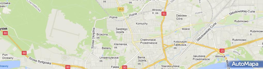 Zdjęcie satelitarne Prywatny Gabinet Okulistyczny