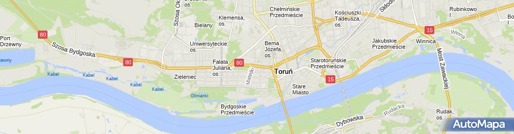 Zdjęcie satelitarne Prywatny Gabinet Ortodontyczny Łysiak