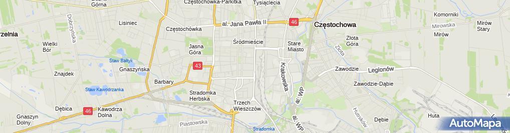 Zdjęcie satelitarne Prywatny Specjalistyczny Gabinet Lekarski Dr Med.Stanisław Waluszkiewicz