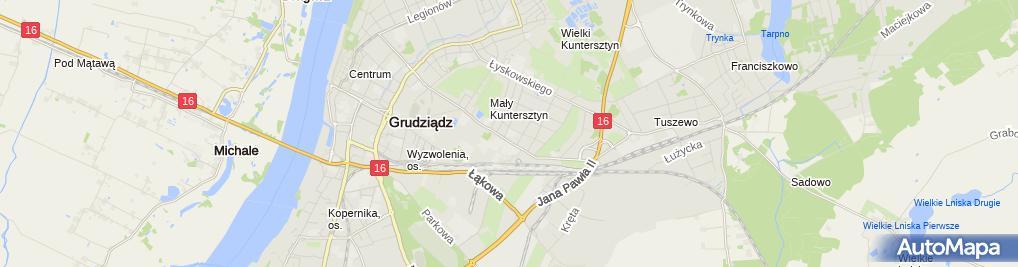 Zdjęcie satelitarne Przeds Handl Atut Import Eksport Wolmański Adam Kowalczyk Jerzy