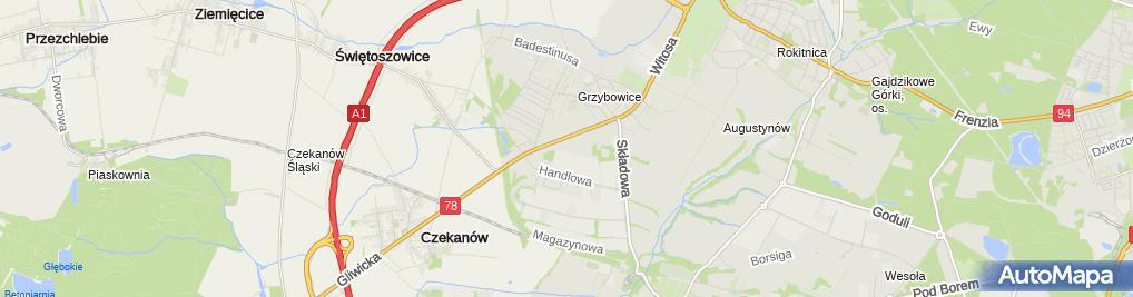 Zdjęcie satelitarne Przeds Handl Usł Transp Optymal Jerzy Węgielewski Marek Lamberski