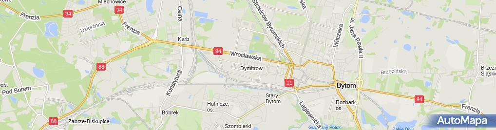 Zdjęcie satelitarne Przeds Handl Usług Aspek Wójtowicz Andrzej Różański Stanisław