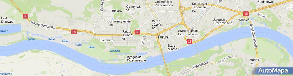 Zdjęcie satelitarne Przeds Handl Usług Produkc Geminez Grzechulski Zbigniew Milarski M