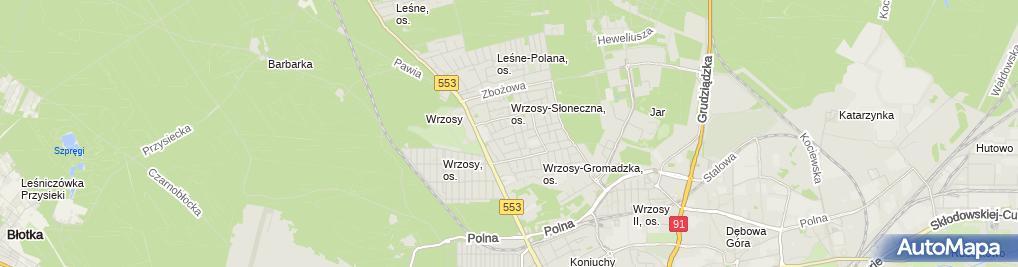 Zdjęcie satelitarne Przeds Inżynieryjno Handl Energotrans Sobociński Ryszard i Mariusz