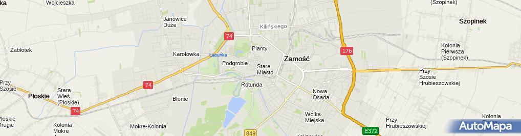 Zdjęcie satelitarne Przeds Prod Handl Usług Maxima Paszt Witold Paszt Aleksandra