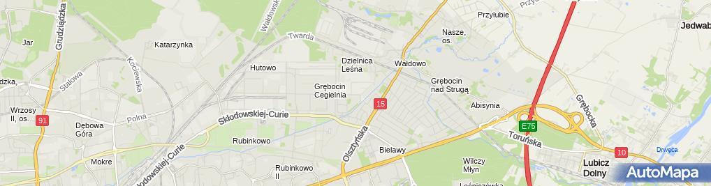 Zdjęcie satelitarne Przeds Produkcyjno Handlowo Usługowe Apron Siwik Mariola Siwik Jarosław