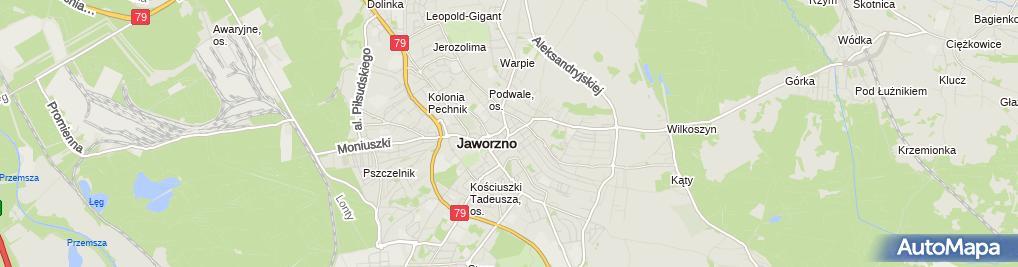 Zdjęcie satelitarne Przeds Produkcyjno Handlowo Usługowe Jafex Brzyszcz Joanna Gola Jacek
