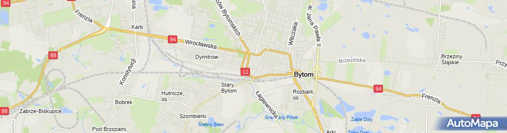 Zdjęcie satelitarne Przeds Usługowo Handlowe Gramarko Kozłowska G