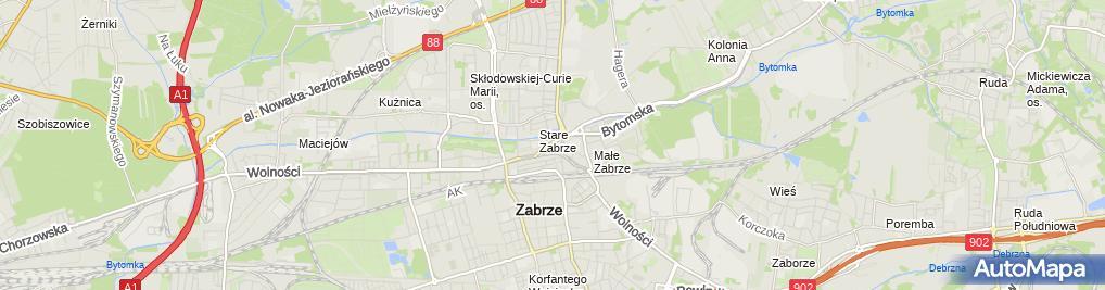 Zdjęcie satelitarne Przeds Wielobranżowe El Bo Bogumiła Wysocka Elżbieta Płaszczyk