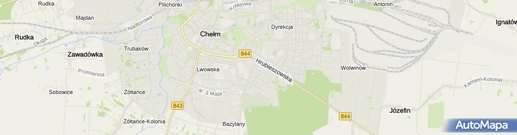 Zdjęcie satelitarne Przedsięb Handlowo Usługowo Produkcyjne Aleksander