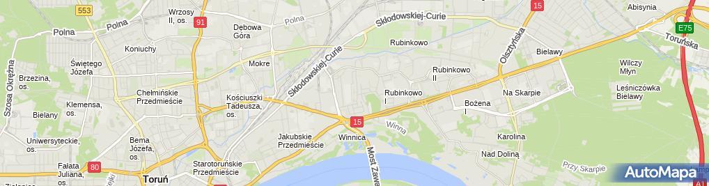 Zdjęcie satelitarne Przedsiębiorstwo Budowlane Andrzej Mowiński