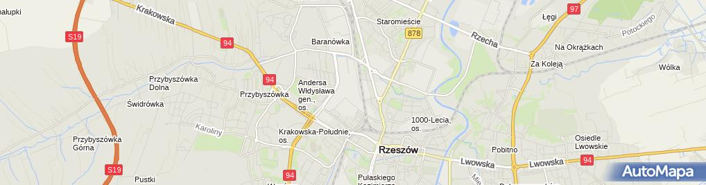 Zdjęcie satelitarne Przedsiębiorstwo Geodezyjno Kartograficzne Geomiar Rzeszów