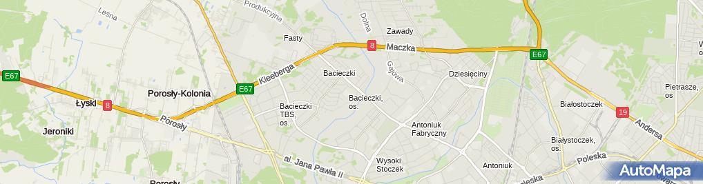 Zdjęcie satelitarne Przedsiębiorstwo Handlowe Celam