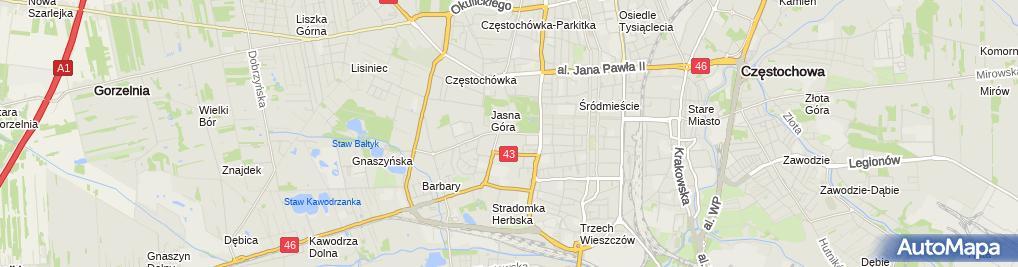 Zdjęcie satelitarne Przedsiębiorstwo Handlowe Jack Market Eksport Import