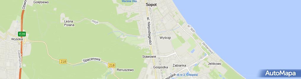 Zdjęcie satelitarne Przedsiębiorstwo Handlowe Jomi