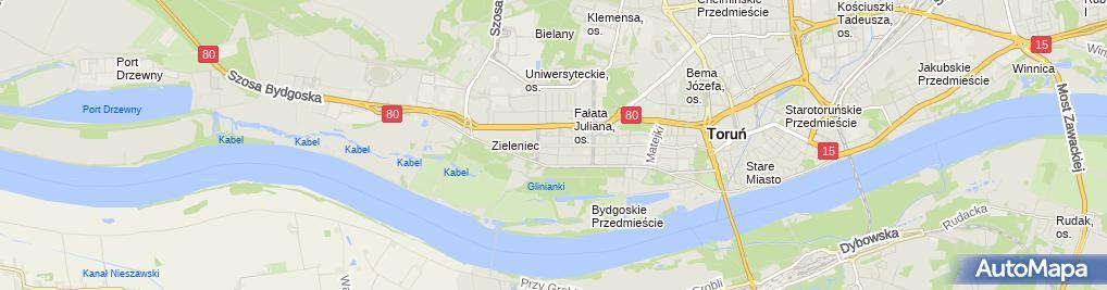 Zdjęcie satelitarne Przedsiębiorstwo Handlowe Lejdis Klonecka Kamila Widawska Natalia