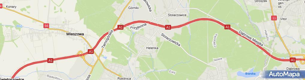 Zdjęcie satelitarne Przedsiębiorstwo Handlowe Oddo Mieczysław Skowron Anna Skowron Magdalena Polońska