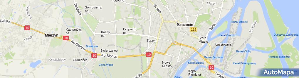 Zdjęcie satelitarne Przedsiębiorstwo Handlowe Zefir Filipek Leszek Lewicki Olaf