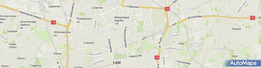 Zdjęcie satelitarne Przedsiębiorstwo Handlowe
