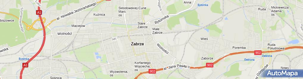 Zdjęcie satelitarne Przedsiębiorstwo Handlowo Produkcyjne Barel Babińscy Babiński Szymon Babińska Irena
