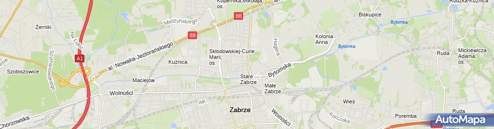 Zdjęcie satelitarne Przedsiębiorstwo Handlowo Spedycyjne Petek Rupik i Tarnówka