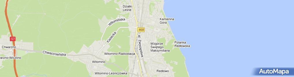 Zdjęcie satelitarne Przedsiębiorstwo Handlowo Usługowe 'Alfa' Bogdan Kosiński